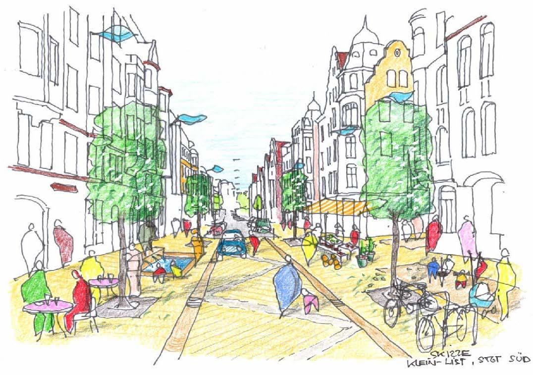 Klein List (Zeichnung: Heinz Lermann, Planungsgruppe 7)